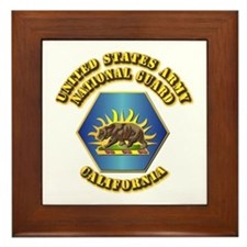 Army National Guard - California Framed Tile