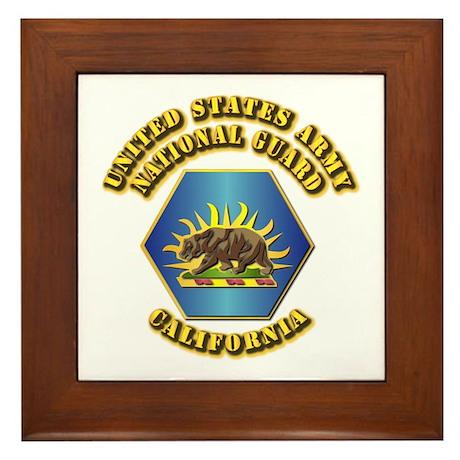 Army National Guard - California Framed Tile