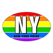 New York Pride Oval Decal