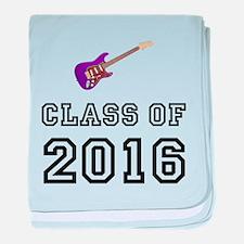 Class Of 2016 Guitar baby blanket