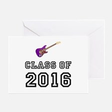 Class Of 2016 Guitar Greeting Card