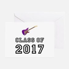 Class Of 2017 Guitar Greeting Card