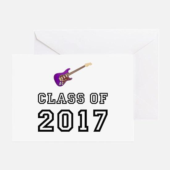 Class Of 2017 Guitar Greeting Card