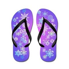 Colorful Merry Christmas Flip Flops