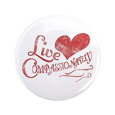 """Heart Compassion 3.5"""" Button"""