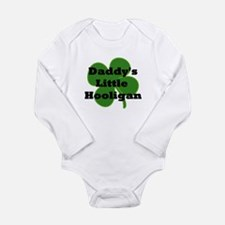 Daddy's Hooligan Shamrock Long Sleeve Infant Bodys