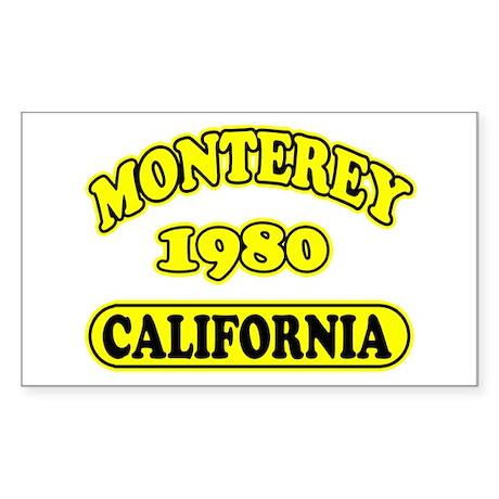 Monterey,Ca Sticker (Rectangle)