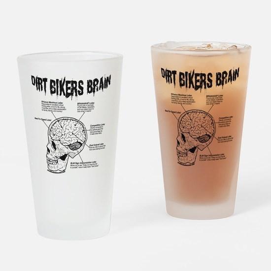 Dirt Bikers Brain Drinking Glass