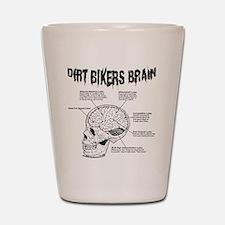Dirt Bikers Brain Shot Glass