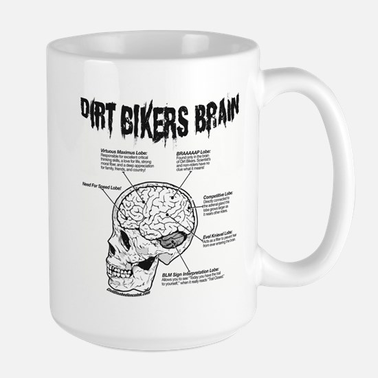 Dirt Bikers Brain Large Mug
