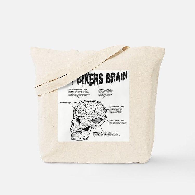 Dirt Bikers Brain Tote Bag