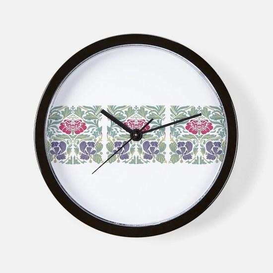 Morris Rose Wall Clock