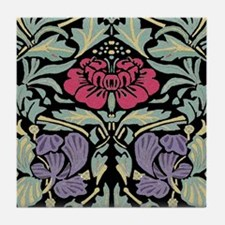 Morris Rose Tile Coaster