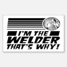 Funny Welder Sticker (Rectangle)