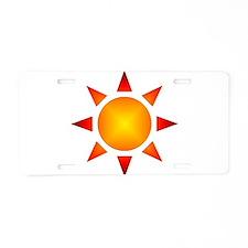 Sunburst Aluminum License Plate