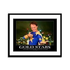 """""""Gold Stars"""" Motivational Framed Panel P"""