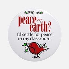 Peace in the Classroom Ornament (Round)