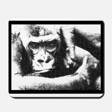 Gorilla Strikes A Pose Mousepad