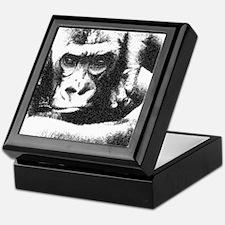 Gorilla Strikes A Pose Keepsake Box