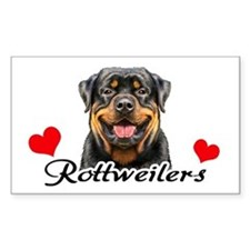 Love Rottweilers Decal
