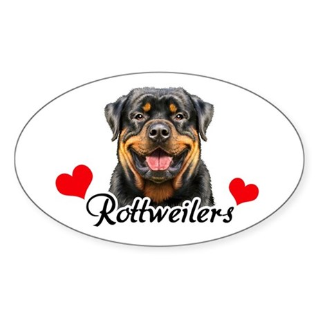 Love Rottweilers Sticker (Oval)
