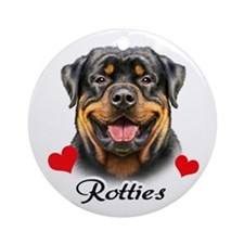 Love Rottweilers Ornament (Round)