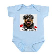Love Rottweilers Infant Bodysuit