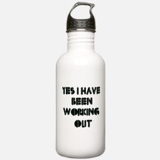 Funny gym designs Water Bottle