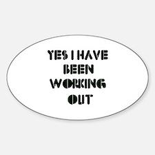 Funny gym designs Sticker (Oval)