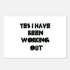 Funny gym designs Postcards (Package of 8)