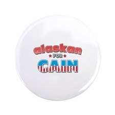 "Alaskan for Cain 3.5"" Button"