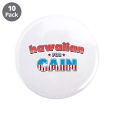 """Hawaiian for Cain 3.5"""" Button (10 pack)"""