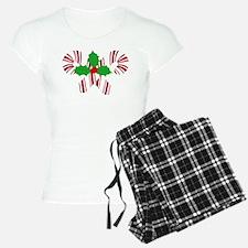 Candy Canes Holly Pajamas