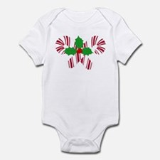 Candy Canes Holly Infant Bodysuit