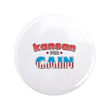 "Kansan for Cain 3.5"" Button"