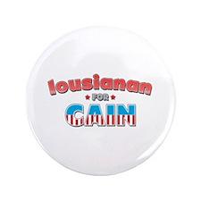 """Lousianan for Cain 3.5"""" Button"""