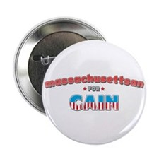 "Massachusettsan for Cain 2.25"" Button"