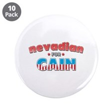 "Nevadian for Cain 3.5"" Button (10 pack)"