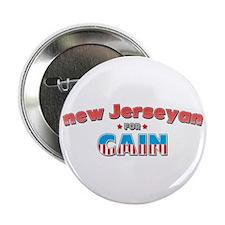 "New Jerseyan for Cain 2.25"" Button"