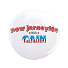 "New Jerseyite for Cain 3.5"" Button"