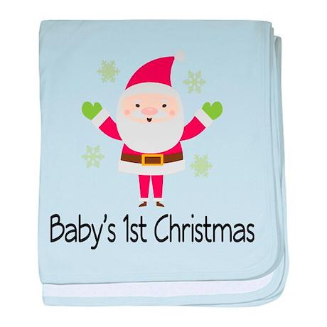 Baby's 1st Christmas Santa baby blanket
