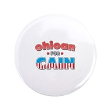 "Ohioan for Cain 3.5"" Button"