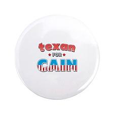 """Texan for Cain 3.5"""" Button"""