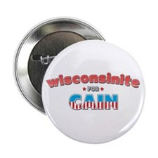"Wisconsinite for Cain 2.25"" Button"