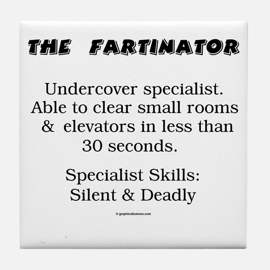 The Fartinator Tile Coaster