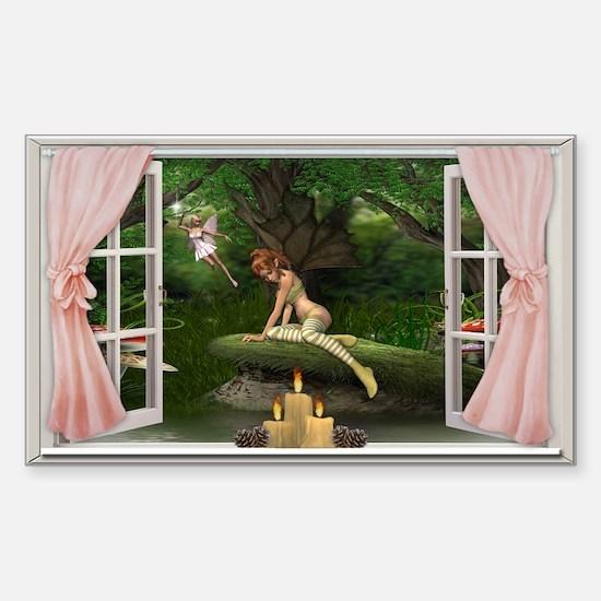 Fairy Wall Peels Sticker (Rectangle)