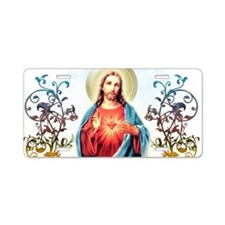 Sacred Heart of Jesus Aluminum License Plate