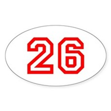 Number 26 Oval Decal