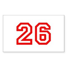 Number 26 Rectangle Decal