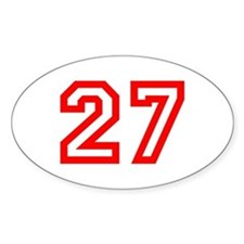 Number 27 Oval Decal
